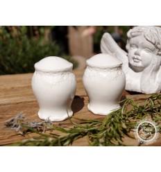 Salz- & Pfefferstreuer Set aus Keramik/B-Ware