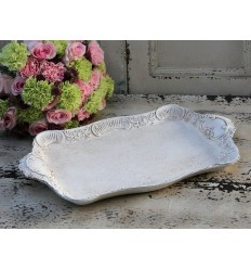 Chic Antique Tablett mit Blumenmuster