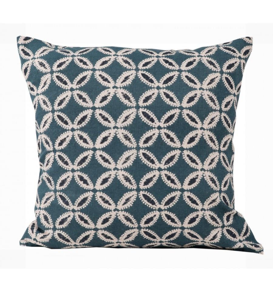 kissenbezug mit muster blau kissenbez ge kissen. Black Bedroom Furniture Sets. Home Design Ideas