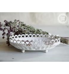 Chic Antique ovale Schale aus Metall