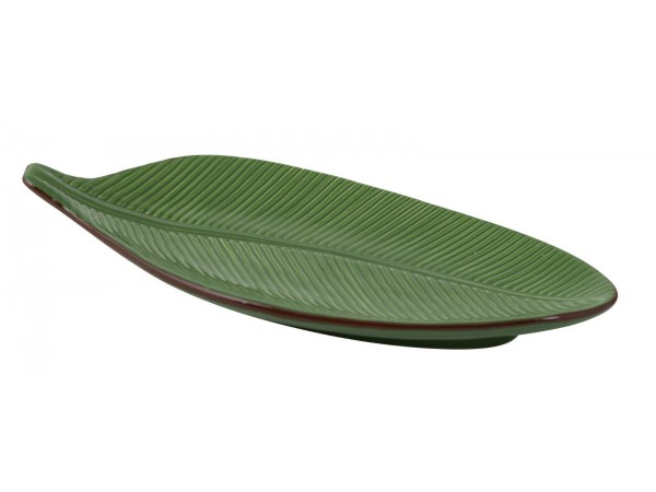Schale in Ficus-Blattform